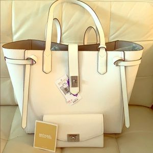 MICHAEL Michael Kors Cassie Leather Tote & Wallet